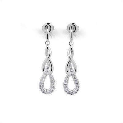 Stříbrné náušnice MODESI JA23925CZ Earring