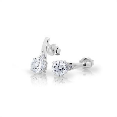Stříbrné náušnice MODESI JA24016CZ Earring