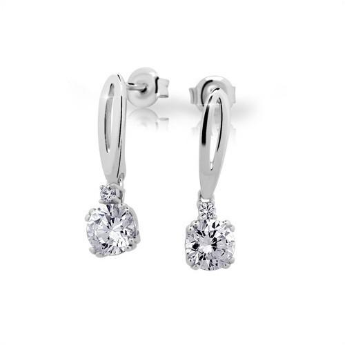 Stříbrné náušnice MODESI JA24026CZ Earring