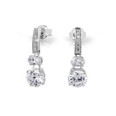Stříbrné náušnice MODESI JA24020CZ Earring