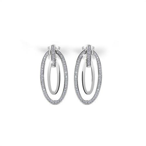 211 Stříbrné náušnice MODESI WYDBK-E Earring