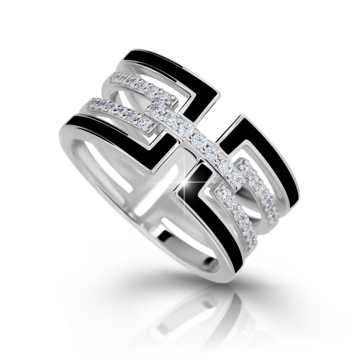 MODESI M11071 Ring Black Enamel