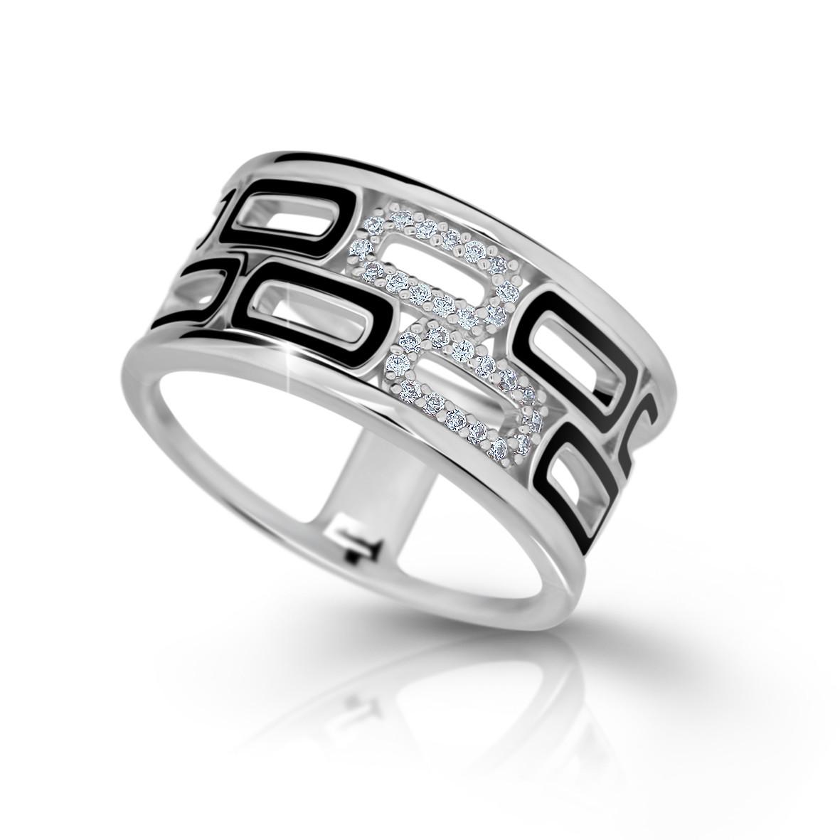 MODESI M11073 Ring Black Enamel