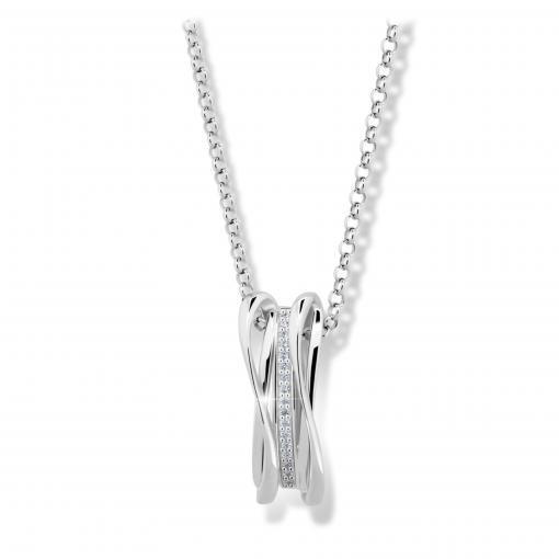 Stříbrný náhrdelník MODESI M43043