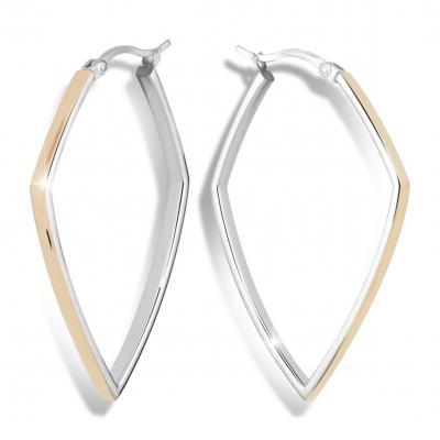 Náušnice MODESI M26005 Earring Rhodium Rose gold plated