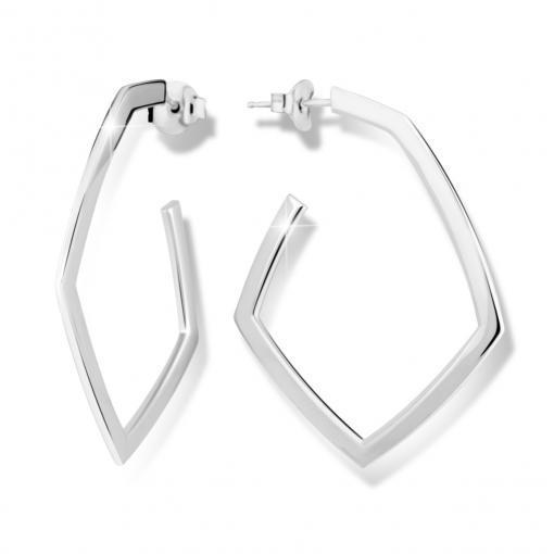 Náušnice MODESI M26012 Earring Rhodium plated