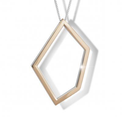 MODESI M46007 Necklace 70cm Rhodium Rose gold plated