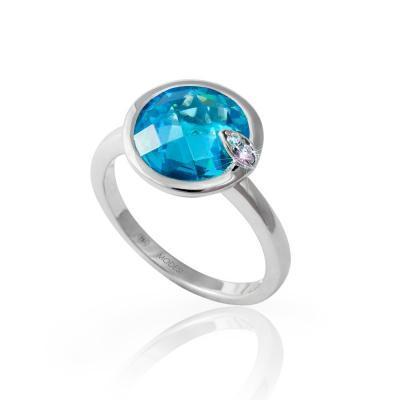 Prsten MODESI M11058 Ring Aquamarine