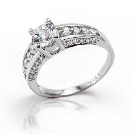 Q16851-1L Ring stříbrný prsten MODESI