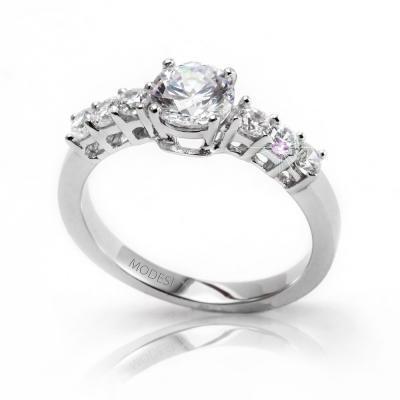 QJRY2223L Ring stříbrný prsten MODESI