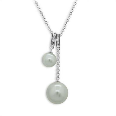 Stříbrný náhrdelník MODESI bílé perly JA51510JBP-Z Necklace