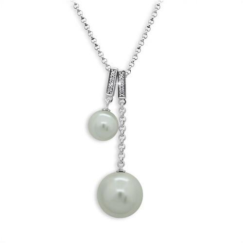 Perlový náhrdelník MODESI s bílými perlami